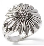 Zilveren Ring Sunflower