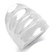 Zilveren Ring Curve