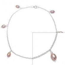 Zilveren Enkelbandje Perles