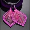 Oorbellen Pink Silk Thread