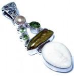 Zilveren Kettinghanger Boneface en Peridoot
