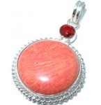 Zilveren Kettinghanger Rood Koraal