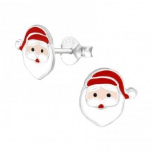 Zilveren Oorbellen Santa