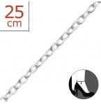 Zilveren Enkelbandje Simple 25 cm.