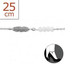 Zilveren Enkelbandje Feather