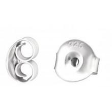 Zilveren Oorbel Slotjes 7 mm.