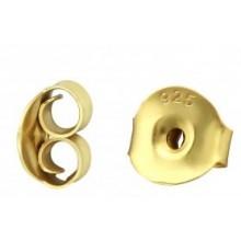 Zilveren Oorbel Slotjes 7 mm. Goud