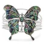Nieuw Zilveren Armband Abalone Butterfly