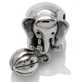 Zilveren Bedel Olifant met bal