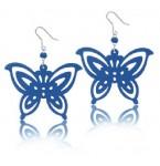 Zilveren Oorbellen Blue Butterfly