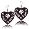 Zilveren Oorbellen Brown Filigrain Hearts