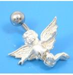 Zilveren Navelpiercing Angel