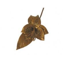 Lederen Broche Flower Power 1