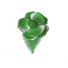 Lederen Broche Flower Power 3