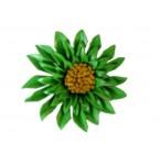 Lederen Broche Flower Power 17