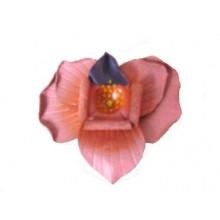 Lederen Broche Flower Power 2