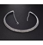 Rhinestone Choker Two Rows