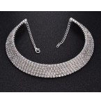 Rhinestone Choker Five Rows