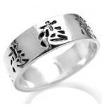Zilveren Heren Ring Love