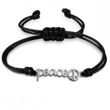 Zwarte Armband Peace