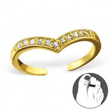 Zilveren Teenring Keylene Gold