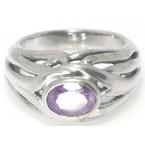 Zilveren Ring Melinda Paars