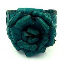 Lederen Armband Turquoise Rose