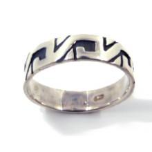 Zilveren Ring Meander