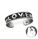 Zilveren Teenring Love