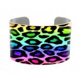 Cuff Bracelet Neon Animal Print
