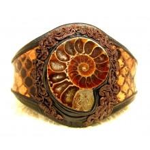 Lederen Armband Ammonitha