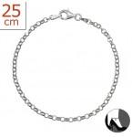 Zilveren Enkelbandje Rollo Chain 25.5 cm.