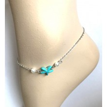 Enkelbandje Turquoise Starfish