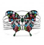 NIEUW Zilveren Armband Butterfly Black with Dots