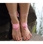 Barefoot Sandals Roses pink