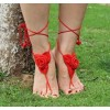 Barefoot Sandals Roses red