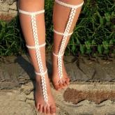 Barefoot Sandals Angelina White