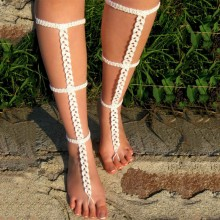 Barefoot Sandals Angelina White