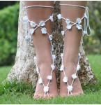 Barefoot Sandals White Flowers