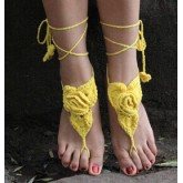 Barefoot Sandals Roses Yellow