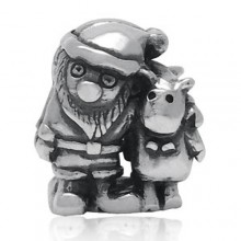 Zilveren Bedel Santa & Rudolf