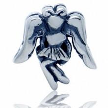 Zilveren Bedel Engel met Vleugels