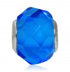 Murano Glasbedel Swiss Blue