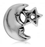 Zilveren Bedel Maan en Ster