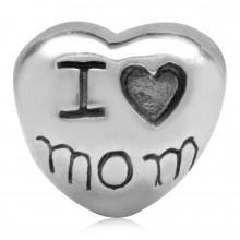Zilveren Bedel Love Your Mom