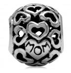 Zilveren Bedel Hearts for Mom