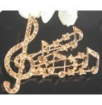 Broche Musica gold