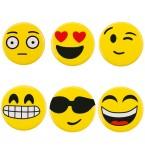 Buttons Emoji 6 stuks