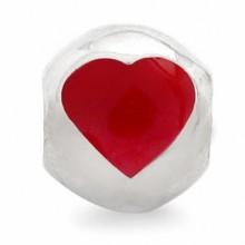 Zilveren Bedel Red Heart