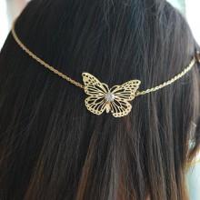 Haarketting Golden Butterfly